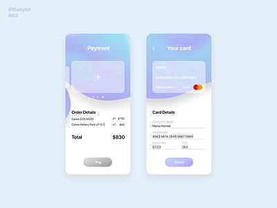 Credit Card. Daily UI: 002 daily ui 002 dailyuichallenge mobile app mobile ui glassmorphism credit card creditcard uiuxdesign uiux uidesign ui