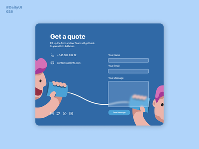 Contact Us. Daily UI: 028 uidesign mobile app design webdesign design contact page illustration daily 100 challenge mobile ui dailyuichallenge contacts contact us 028 dailyui028 dailyui001 dailyui