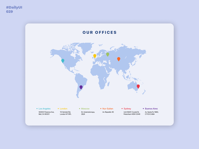 Map  Daily UI: 029 daily 100 challenge daily ui offices world mapdesign map design dailyui001 dailyuichallenge uidesign dailyui 029 dailyui029