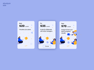 Pricing. Daily UI: 030 pricingpage pricingplan pricing illustration 030 dailyui030 dailyui001 uiux dailyuichallenge dailyui uidesign