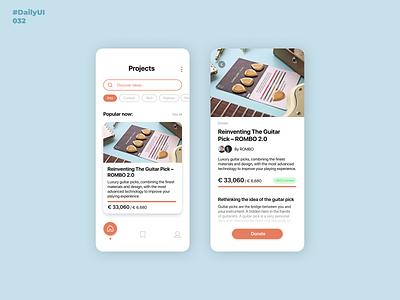 Crowdfunding Campaign. DailyUI: 032 appdesign mobiledesign mobile app design kickstarter funding crowdfunding campaign crowdfunding 032 crowdfundingcampaign dailyuichallenge dailyui001 dailyui032