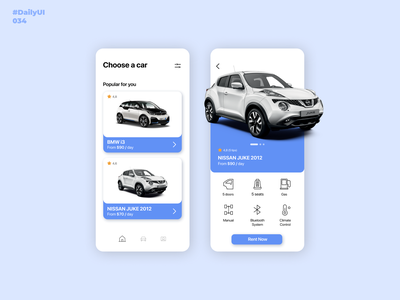 Car Interface. DailyUI: 034 daily 100 challenge dailyui mobile app design figma dailydesign appdesign mobileappdesign dailyui001 dailyuichallenge 034 carrentalapp car carinterface dailyui034