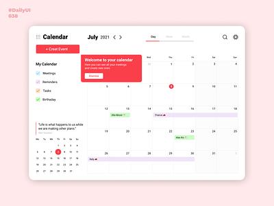 Calendar: Daily UI: 038 date creative 038 dailyui038 calendar design dailyui001 uidesign dailyuichallenge dailyui