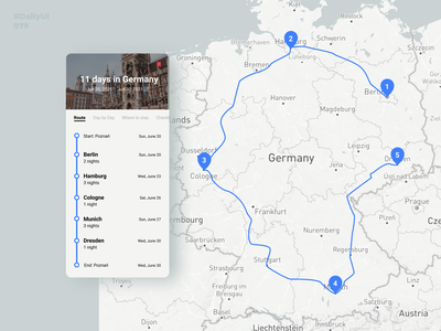 Itinerary. Daily UI: 079 mobile app design germany travel planner travel itinerary dailyui079 079 dailyuichallenge