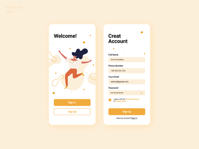 Form. Daily UI: 082 dailyui signup sign up input form design form dailyui082 082 dailyuichallenge