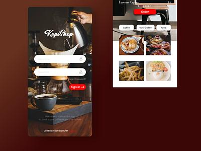 Coffee Shop Mobile App icon app ui typography design branding