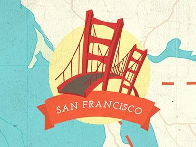 San Francisco san francisco illustration usa map