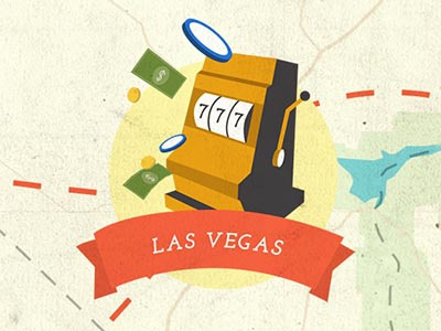 Las Vegas las vegas gambling slot machine illustration usa map