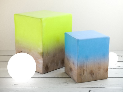 Everydays paint cube box wood render everyday cinema4d 3d