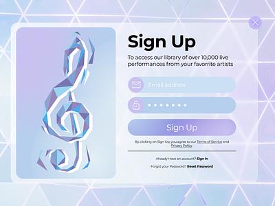 DAILY UI :: 001 music vector minimal branding design web ui ux daily ui dailyui