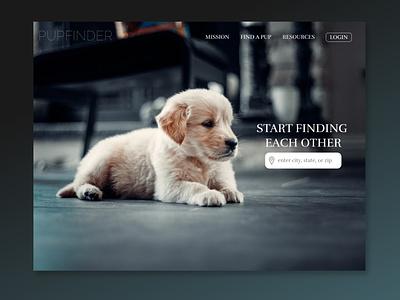 DAILY UI :: 003 adoption dogs landingpage ux ui design daily ui