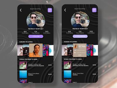 DAILY UI :: 006 profile page profile music app music ux ui design dailyui daily ui
