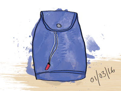 Day 4: Draw what's in your bag
