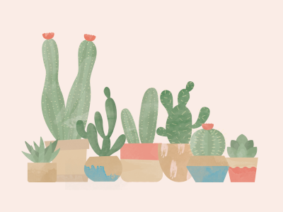 Textured cacti