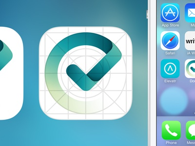 Done app icon icon iphone ipad ios 7 blue green logo app check list todo