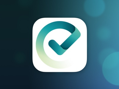 Done app icon icon iphone ipad ios 7 blue green logo app check list todo