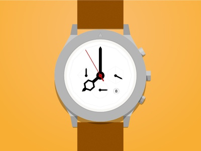 My Aark Watch illustration icon watch aark flat color yellow