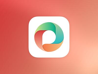 Rejected Logo logo branding mark app icon ios blue red orange green speech bubble