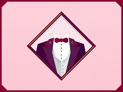 Suit Illustration illustration icon yellow red purple pink tie