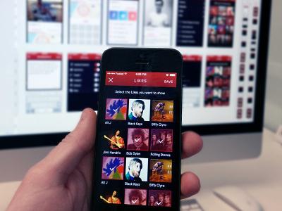 Likes Screen ios likes iphone app icon ui ux red purple