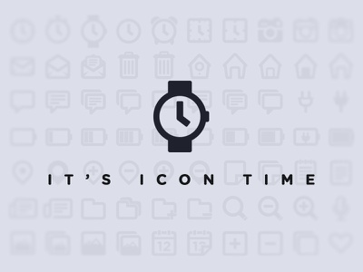 It's icon time! free icons set 100 glyph watch camera clock bin house home speech map magnifying glass folder calendar heart mic battery mail charging gotham
