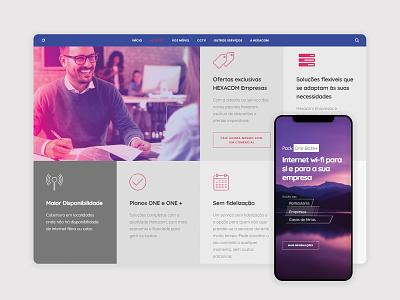 Site - Hexacom ui ux web
