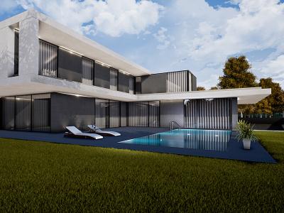 3D - Exteriors architecture house home 3d