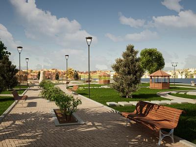 3D - Park garden parks park 3d