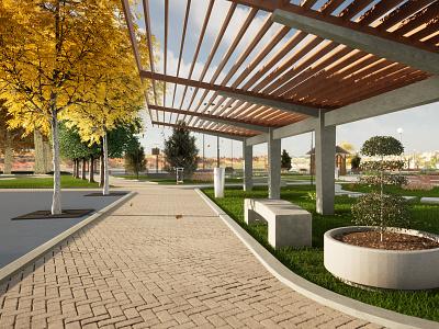 3D - Park landscape design landscaping parks park 3d