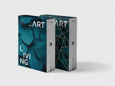 Packaging - ArtLiving photography golden gold blue typography design logo branding package paper architecture packaging