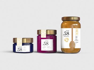 Packaging - Intuos jam honey packaging design package food branding design logo packaging