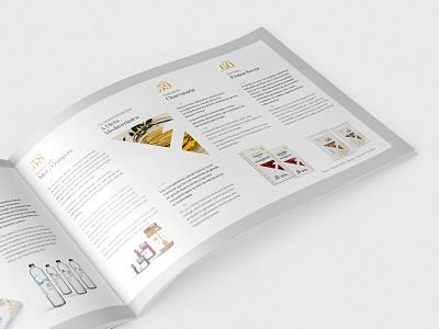 Print - Intuos paper gold design food catalogue editorial design print