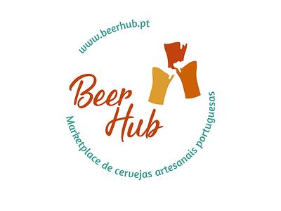 Beer Hub - A portuguese market place for craft beer logotype symbol icon logo design logo brand