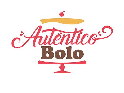 Autêntico Bolo - Logo for a brazilian home made cake store logotype logo design logo brand