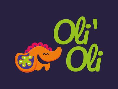 Oli´Oli - Logo for a child´s clothing store logotype character design symbol logo design logo brand