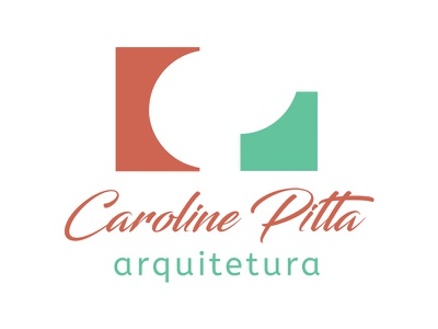 Caroline Pitta Arquitetura - Logo architect architecture brand logo