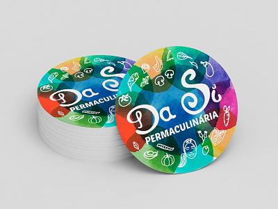 Da Si Permaculinária - Logo Design hand lettering branding logo design