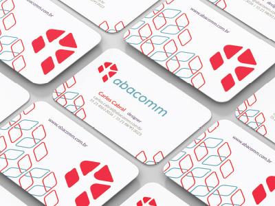 Abacomm - logo design and visual identity texture icon business card visual identity logo design