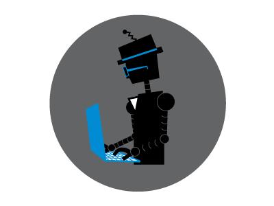 Developer Robot illustration icon developer robot
