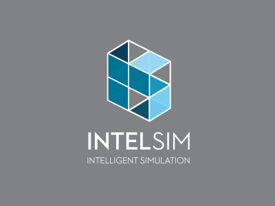 IntelSim Logo simulation logo