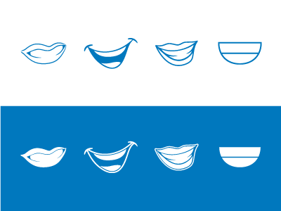 Smiles! logo dentist smile