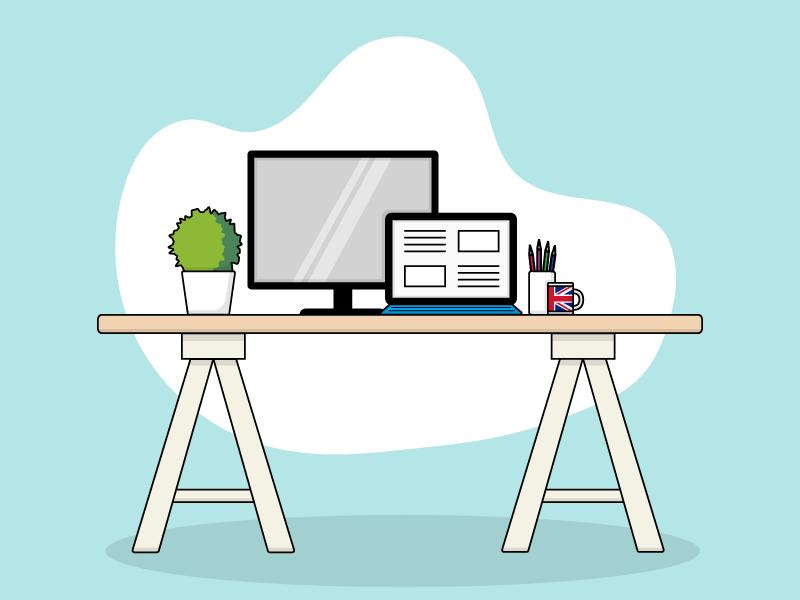 Office Desk By Eloise West On Dribbble