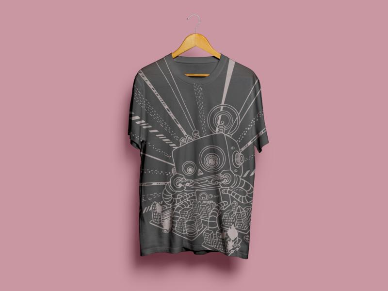 robot t-shirt retro t-shirt shirt robot