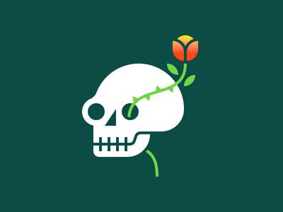 Skull & Flower flower skull