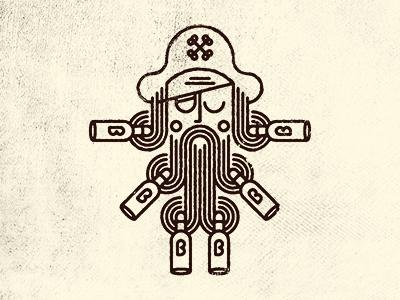 Cap'n Grog pirate beer beard eyepatch bazooka joe