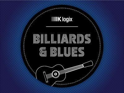 Billiards & Blues coaster invitation blues billiards