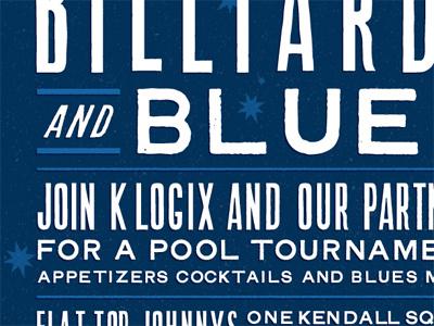 Billiards & Blues 2 billiards blues invitation poster
