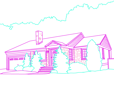 Our House illustration holiday house