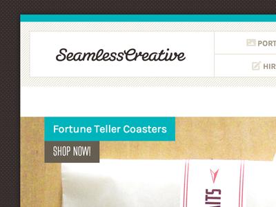 Seamless Site Nav Detail web brand seamless