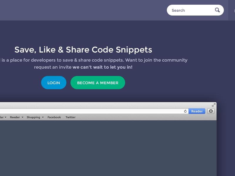 Codepad redesign by Jamie Peak | Dribbble | Dribbble